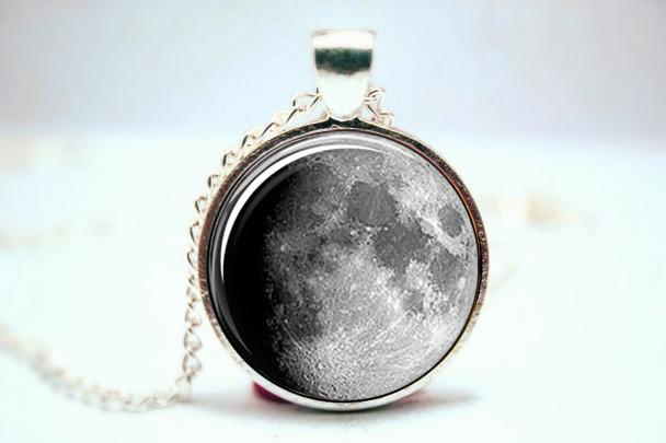 Moon Pendant- Waxing Gibbous