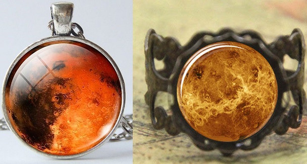 Mars Pendant and Ring Set