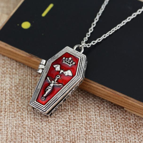 Red Coffin Locket