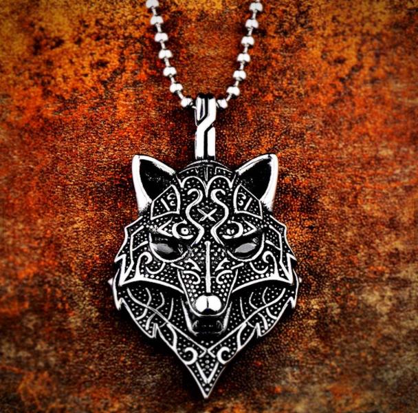 Large Wolf Pendant