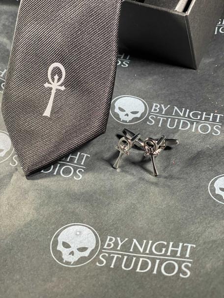 Camarilla Silk Tie and Cufflinks set
