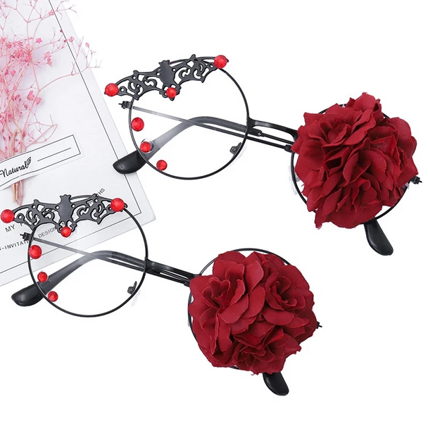 Bat Rose Glasses