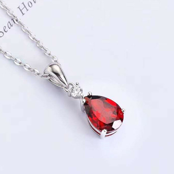 Garnet and White Gold Blood of Love Pendant