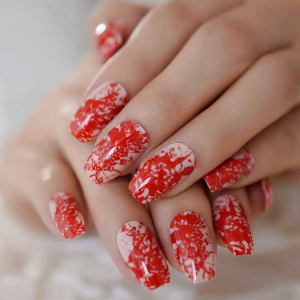 Blood Splatter Fake Nails