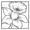 Daffodil Block Digital Stamp
