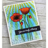 Precious Poppies Clear Stamp Set