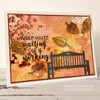 Falling Leaves Clear Stamp Set