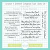 Scripture & Sentiment Companions Clear Stamp Set