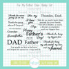 For My Father Clear Stamp Set
