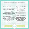 Engagement & Wedding Innies Clear Stamp Set