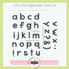 Creative Worship: Cold Coffee Alphabet Clear Stamp Set