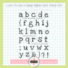 Creative Worship: Love Ya Like a Sister Alpha Clear Stamp Set