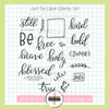 Creative Worship: Just Be Clear Stamp Set