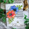Scribble Flowers Clear Stamp & Die Bundle