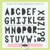 Creative Worship: Shake it Off Caps Alpha Clear Stamp Set