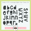 Creative Worship: Shake it Off Lowercase Alpha Clear Stamp Set