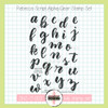 Creative Worship: Rebecca Script Alpha Clear Stamp Set