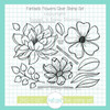 Fantastic Flowers Clear Stamp Set