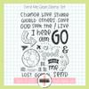 Creative Worship: Send Me Clear Stamp Set