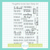 Thoughtful Words Clear Stamp Set