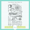 Rose Banner Clear Stamp Set