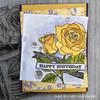 Rose Banner Clear Stamp Set