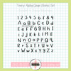 Creative Worship: Teeny Alpha Clear Stamp Set