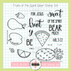 Creative Worship: Fruits of the Spirit Clear Stamp Set