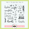 Creative Worship: Healer of My Heart Clear Stamp Set