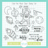 Over the Moon Clear Stamp Set