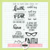 Creative Worship: Walk by Faith Clear Stamp Set