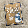 Folk Art Snowflakes Clear Stamp Set