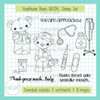 Healthcare Bears DIGITAL Stamp Set