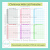 Christmas Wish List FREEBIE Printable