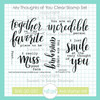 October Stamp of the Month: My Thoughts of You Clear Stamp Set