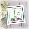 Rose Background Clear Stamp