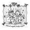 Christmas Carolers Digital Stamp