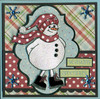 Skating Snowman Digital Stamp