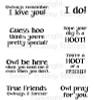 Owl Sentiments 2 Digital Stamp
