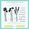Long Stem Silhouettes Clear Stamp Set