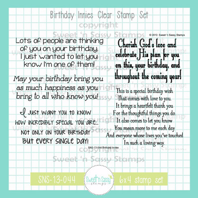 Birthday Innies Clear Stamp Set