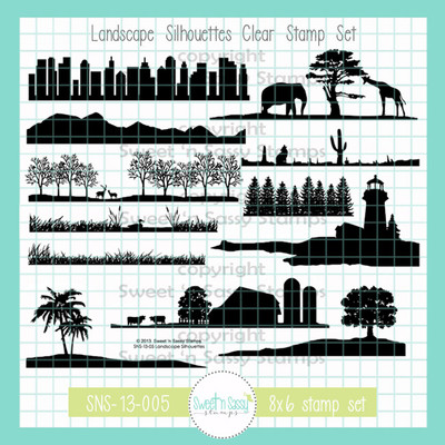 PREORDER Landscape Silhouettes Clear Stamp Set