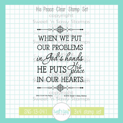His Peace Clear Stamp