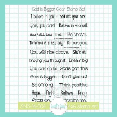 God is Bigger Clear Stamp Set