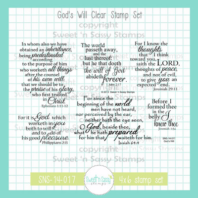 God's Will Clear Stamp Set