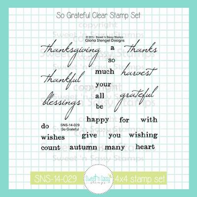 So Grateful Clear Stamp Set