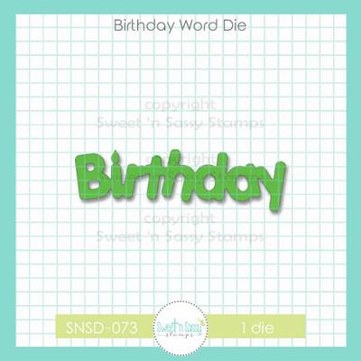 Birthday Word Die