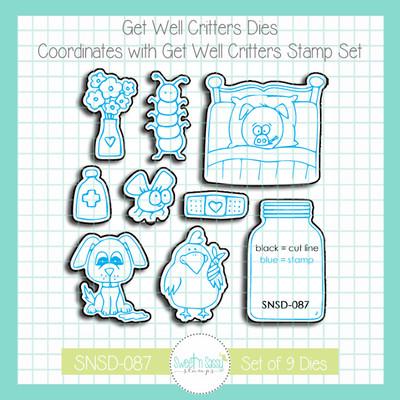 Get Well Critters Die Set