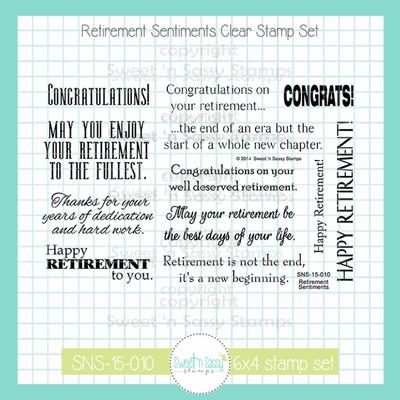 Retirement Sentiments Clear Stamp Set