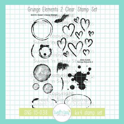 Grunge Elements 2 Clear Stamp Set